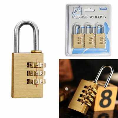 3 Digit Combination Lock Home Travel Luggage Suitcase Password Code Padlock