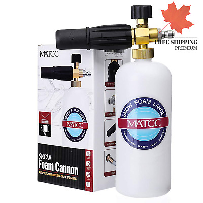 Foam Cannon II Foam Nozzle Pressure Washer Jet Wash with 1 4 Quick Connector ...