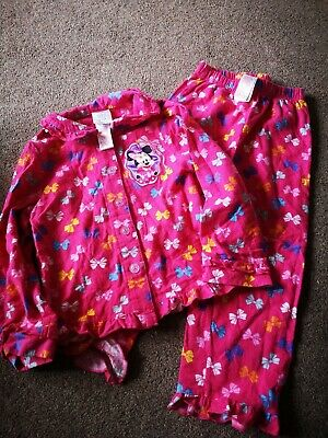 Girls Minnie Mouse Thick Pyjamas - Disney Store Age 4 Years