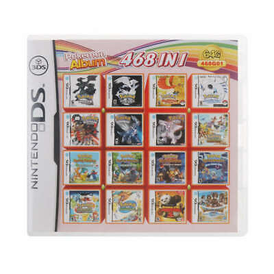468 in 1 Games Cartridge Card for Pokemon Nintendo NDS 3DS 2DS NDSL NDSI US SHIP