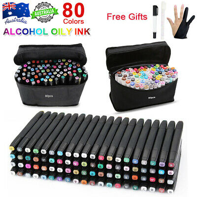 83x Marker Pen Set Dual Heads Graphic Artist Craft Sketch Copic TOUCH Markers