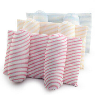 Baby Infant Striped Pillow Newborn Prevent Flat Head Neck Anti Roll Support