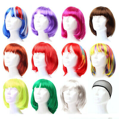BOB Wig Short Hair style Party Dress Up Costume Cosplay