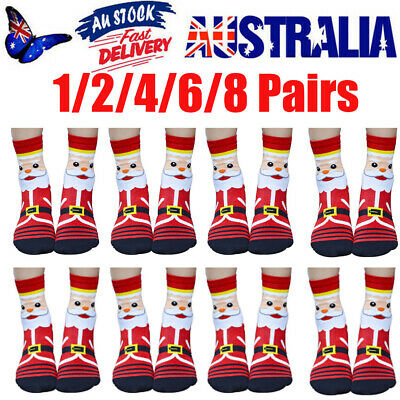 3D Cartoon Christmas Sock Womens Winter Warm Cotton Footprints Party Socks Floor