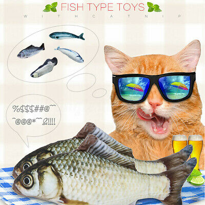 Realistic Fish Cat Pet Kicker Cotton Catnip Scratching Chewing Playing Toy US