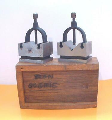 Precision Engineers Vee Blocks & Clamps Set - V Block Matched Pair Boxed