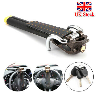Universal Steering Wheel Security Lock Vehicle Car Airbag Anti Theft With 3 Keys