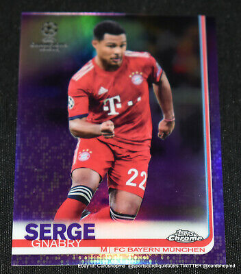2018-19 Topps Chrome Uefa Champions League Purple Refractor #53 Serge Gnabry