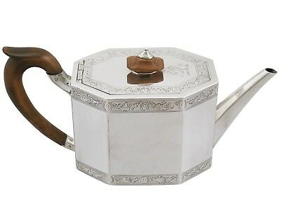 Antique George III Sterling Silver Teapot by John Wakelin & William Taylor