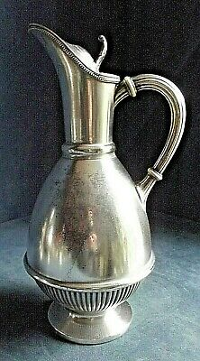 "Good LARGE 12"" ~ SILVER Plated ~ BULBOUS Juice / Water JUG ~ c1900 by Harrison"