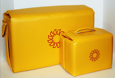 Tupperware Cooler Set of 2 Insulated Vintage Harvest Sunburst Maize Yellow Bags