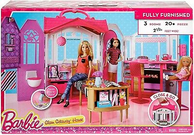 Barbie Glam Getaway House 3 Room Furnished