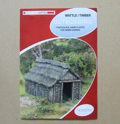 Renedra / Perry - WATTLE TIMBER BUILDING - 28mm Wargaming Dark Age