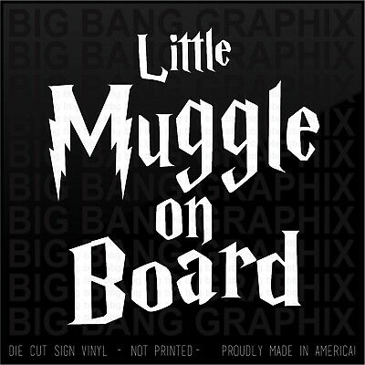 Baby Muggle on Board Vinyl Decal Magical Wizard Parent Car Window Witch HP FAN