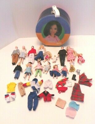 1980's Horsman Doll house family 15 dolls 2 dogs Grandparents mom dad baby toddl
