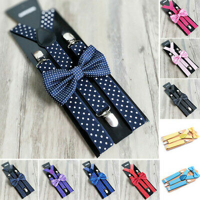 Children Suspenders Kids Toddlers Suspenders Polka Dot Casual Boys Clip On