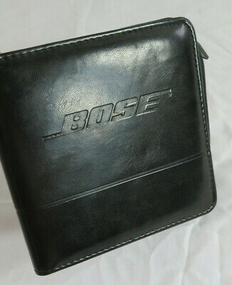 Bose 24 CD Case Black Zippered Synthetic Leather Leatherette