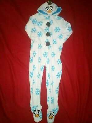 Bnwt Disney Frozen Olaf Cartoon Character All In One Sleepsuit 7-8 Years