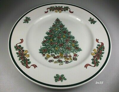 """Johnson Brothers Victorian Christmas Dinner Plates 10 1/4"""" - Set Of 2 Plates"""