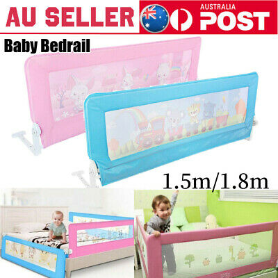 Blue/Pink Safety Bedrail Kid Baby Bed Rail Cot Guard Protection Child toddler AU