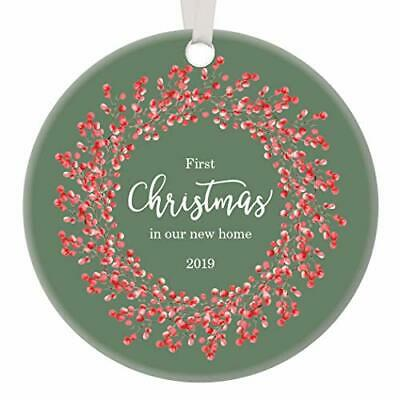 Gift for New Homeowners 2019 Ornament Dated First Home Keepsake Couple Family