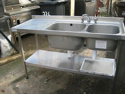 Sissons Bucket Sink Wall Mount Stainless Steel Kitchen Restaurant Catering Unit
