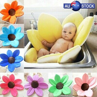 Blooming Flower Lotus Soft Bath Baby Bath Tub Mat Blooming Sink For Baby Infant