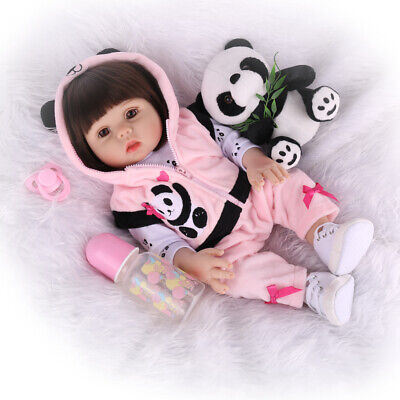 Reborn Baby Doll Full Silicone Vinyl Anatomically Gift Girl Dolls Newborn Toys