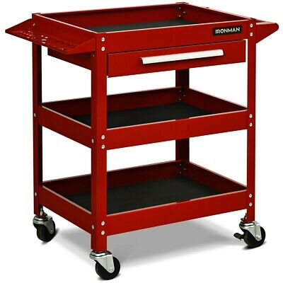 3-Tier Tool Trolley Rolling Cart Cabinet Storage Box Drawer Rack Garage Tools