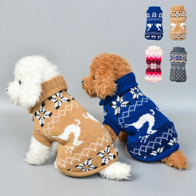 Pet Cat Dog Knitted Jumpsuit Warm Winter Sweater Coat Puppy Vest Jacket Cloth Vy