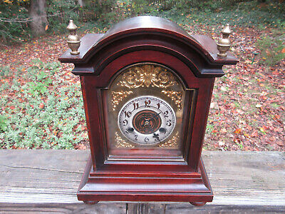 "Antique German Junghans B05 Mantle Clock **Works Beautifully** 12 1/2"" high 1905"
