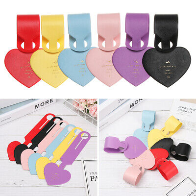 Leather Heart Shapes Luggage Tag Baggage Boarding Suitcase Portable Label