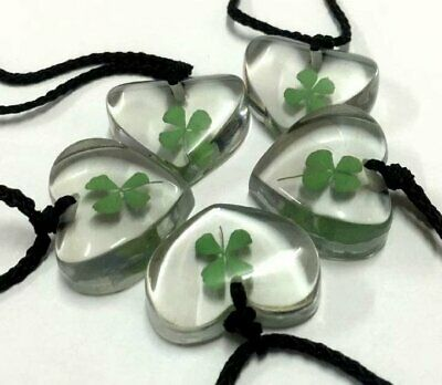 Shop Now  50 pcs New charming heart four leaf clover design pendant