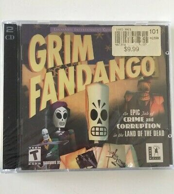 Grim Fandango PC Game Lucas Arts CD-Rom Video Game BRAND NEW FACTORY SEALED