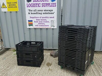 10 X COLLAPSIBLE BAIL / BALE ARM TRAY CRATE 60x40x20mm STORAGE BOX /SUPERMARKET