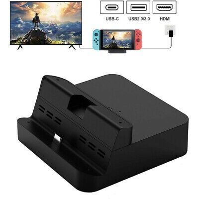 Portable For Nintendo Charging Dock Stand Switch Table Charger Station TV Modes