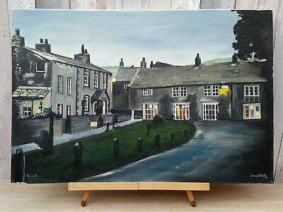 Ex. Large Original Vintage Signed Brummell Smith Oil Painting, Stretched Canvas