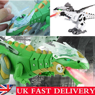 Walking Dragon Toy Fire Breathing Water Spray Dinosaur Christmas Gift For Kid UK