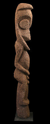 Ambrym figure, fougère vanuatu, black palm carving, oceanic tribal art