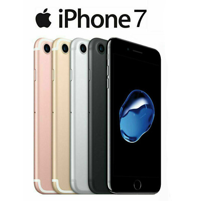 Apple iPhone 7 Black White Gold Pink - 32GB - Factory Unlock Smartphone Pristine