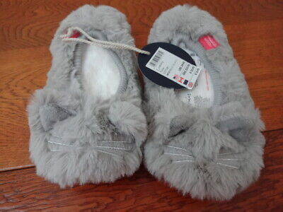 Joules Girls Fluffy Bunny Slippers Size 12-13 BNWT