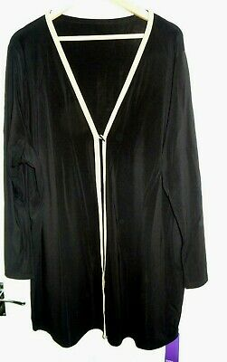 BNWT Marks and Spencer (M&S) Black/Gold Long Cardigan/Top/Overshirt Size 26