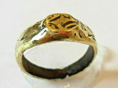 X-Mas Offer,Detector Find & Polished,200-400 A.d Roman Bronze Ring.
