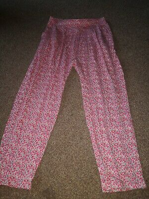 Girls Next Traveller Floral Trousers Age 5 Years