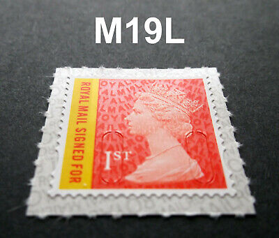 2019 1st CLASS RMSF SIGNED FOR M19L MACHIN SINGLE STAMP