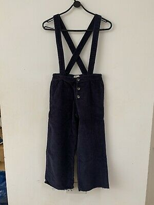 Girls Zara Navy Blue Cord Trousers Age 10 (140 Cm)