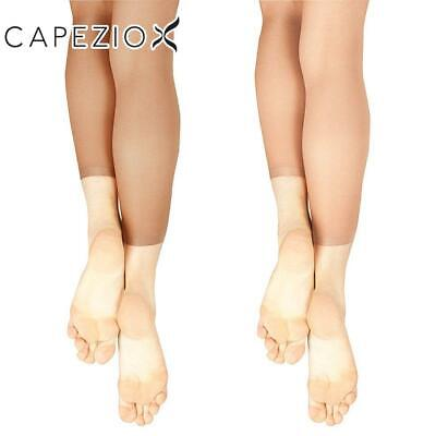 Capezio Childrens Ultra Shimmery Footless Tights 1880C Light Toast or Toast