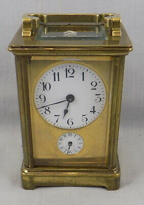 Masked Dial 8 Day Carriage Clock With Alarm - Spares Or Repair