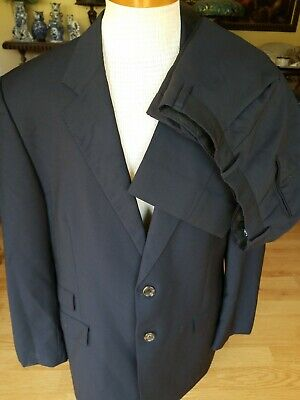 Paul Smith London 42R Pants 34x28 The Westbourne Navy 2-Button Wool/Mohair Suit