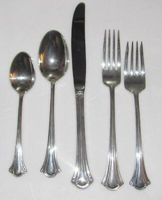 5 pc place setting Serenity Silver Plate by International Silver Co silverware